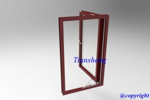 Powder Coated Aluminum Casement Window with Double Glazing pictures & photos