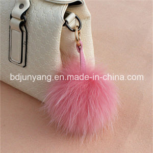 Wholesale Raccoon Fur POM POM Keyrings pictures & photos