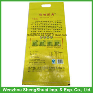 10kgs PP Woven Rice Bag with Handle, Laminated Printing