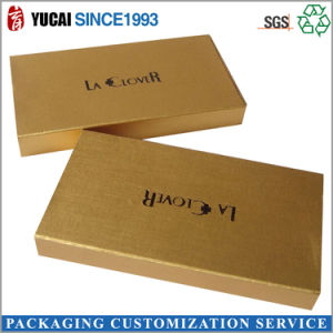 Gold Color Box Paper Gift Box with Logo pictures & photos