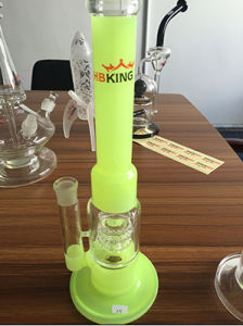 Hbk-6 Honeycomb Glass Pipe, 45cm Green Jade Color Glass Pipe pictures & photos