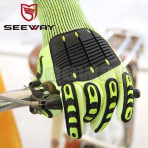 Seeway B510d Heavy Duty Impact Protection Cut & Puncture Resistant TPR Mechanical Gloves