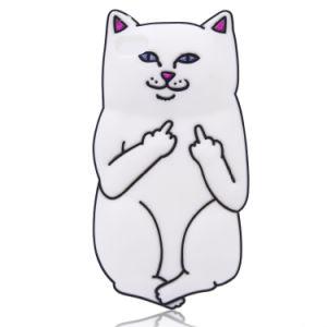 3D Cartoon Cat Silicone Phone Case for iPhone 6s 6plus 7 7plus Huawei P8 P8lite P9cover (XSDW-010)