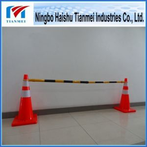 Reflective Road Cone with Retractable Traffic Pipe pictures & photos