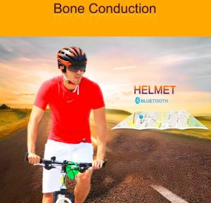 2016 Bike Cycling Bone Conduction Helmet with Bluetooth and Waterproof