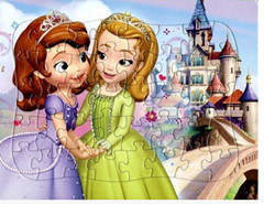 Colorized Paper Puzzle of Two Girls (YM001)
