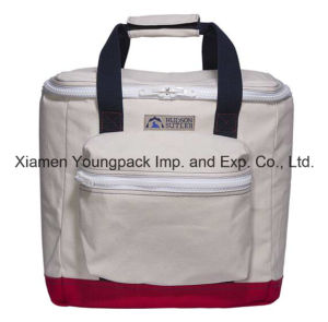 Deluxe High Quality Custom Cotton Canvas Insulated Cooler Bag pictures & photos