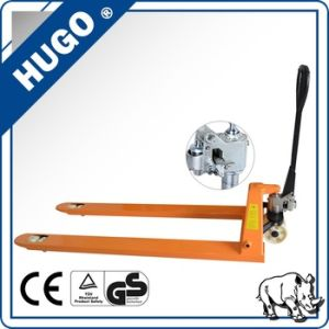 Casting Pump 3000kg Hydraulic Hand Pallet Truck with Nylon Wheel pictures & photos