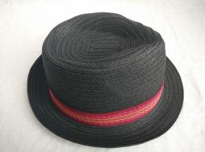 Paper Braid Sewn Braid Fedora Straw Hat pictures & photos