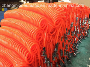 5.5*8mm*6m 100% PU Coil Hose with Quick Connectors pictures & photos