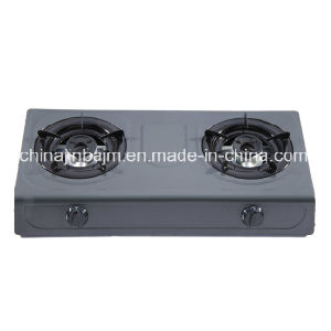 2 Burners Non Stick Burner 710mm Length 80-80 Iron Burner Cap Gas Cooker/Gas Stove pictures & photos