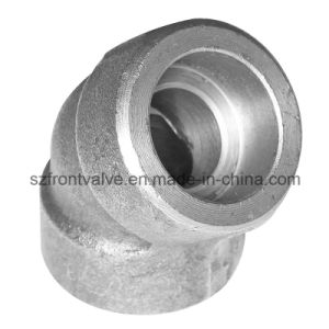 Forged Steel High Pressure Threaded/Sw 45 Degree Elbows pictures & photos
