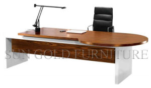 Latest Office Design of Wooden Computer Table Morden Excutive Office Desk (SZ-ODL338) pictures & photos