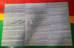 Nero Santiago (vein cut) Grooved Granite Tiles for Outside Paving pictures & photos
