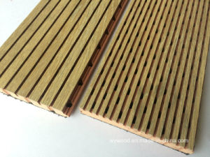 High Pressure Laminate Finish Groove Acoustic Panel pictures & photos