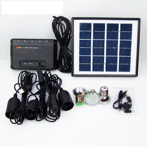 3W/5W/10W Solar Home System Li Battery 3 * LED Bulbs pictures & photos