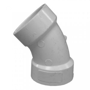 1.5 Inch Size PVC Fitting 1/8 Bend