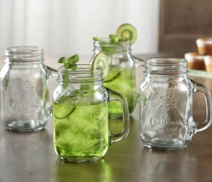 16oz Embossment Glass Mason Jar with Lid for Cocktail pictures & photos