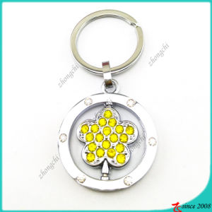 Yellow Crystal Flower Charms Key Rings (KR16041916) pictures & photos