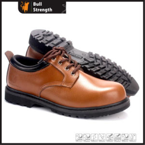 Industrial Geniune Leather Safety Shoes with Rubber Sole (SN5391) pictures & photos