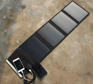 Foldable Solar Panel Power Battery Charging Bag for Travel pictures & photos
