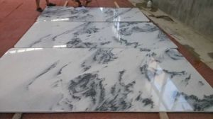 Landscape White Marble with Veins Cut to Size pictures & photos