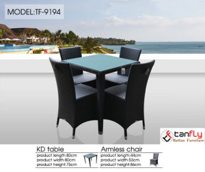 Hotel Patio Pool Side Wicker Dining Set pictures & photos