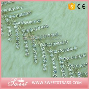 Wholesale Bulk Cheap Silver Bling Glass Crystal Trimming Rhinestone Trim pictures & photos