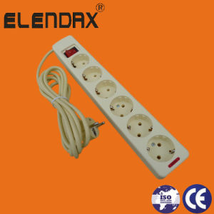 6-Way Europe Extension Cord Socket Standard Grounding Light Switch (E5006ES) pictures & photos