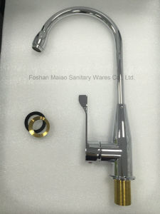 Sanitary Ware Round Design Chrome Plated Kitchen Faucet (1206) pictures & photos