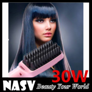 in Stock with LCD Hair Straightener Brush pictures & photos