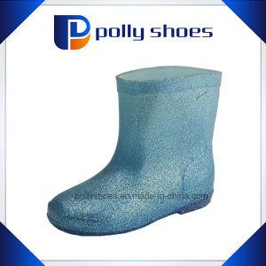 Kids Rain Shoes PVC Transparent Rain Boots pictures & photos