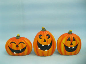 Halloween Pumpkin Ceramic Arts and Crafts (LOE2375-9.5) pictures & photos