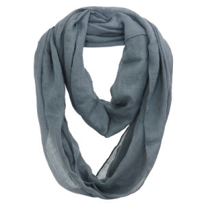 Women Fashion Plain Color Cotton Voile Infinity Fall Scarf (YKY1111) pictures & photos