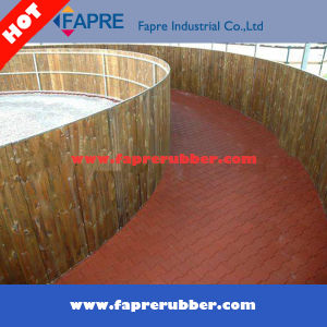 Recycled Agricultural Rubber Bricks Rubber Pavers/Dog Bone Stable Rubber Pavers. pictures & photos