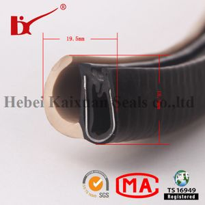 PVC Rubber Black Color U-Shaped Edge Trim pictures & photos