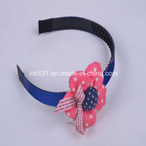 Pink Flower Modelling, Small Bowknot Ornament, Children, High School, College Girls Hair Accessories, Fashion Tiaras, Head Hoop