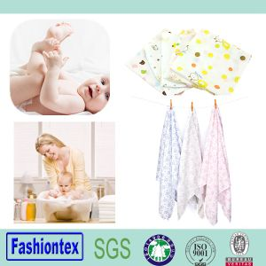 Printed Reusable Organic Bamboo Muslin Baby Diaper Cotton Insert Nappy pictures & photos