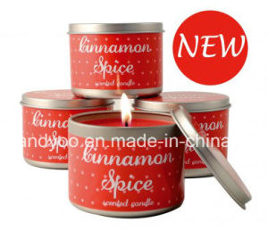 Cinnamon Spice Scented Soy Wax Tin Candle pictures & photos