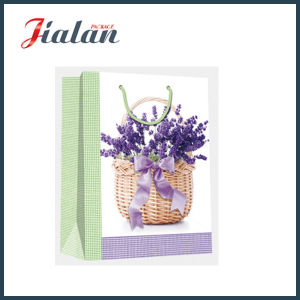 Glossy Laminated Art Paper Lavender Shopping Pack Gift Paper Bag pictures & photos