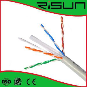 Indoor LAN Cable 23AWG CCA Conductor PVC Jacket UTP CAT6 pictures & photos