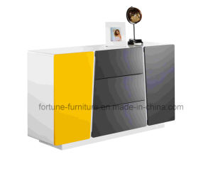 Wooden UV High Gloss White&Yellow Sideboard (Thinking 301) pictures & photos
