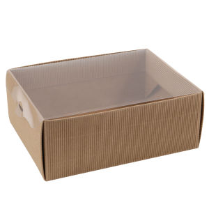 Medium Flat Pack Kraft Paper Gift Box with Window Lid pictures & photos