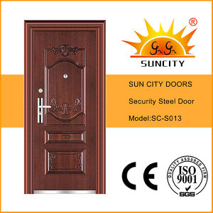 UV-Proof Copper Paint Steel Doors Single (SC-S013) pictures & photos