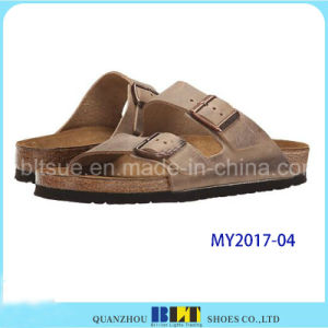 Trendy and Comfortable Full Grain Leather Casual Sandals pictures & photos