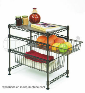 Slide Stainless Steel Kitchen Mini Basket Rack (BK453028) pictures & photos