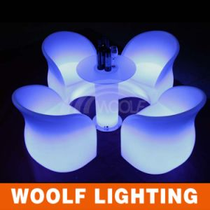 Outdoor Colorful Modern LED Lighted Plastic Chairs pictures & photos
