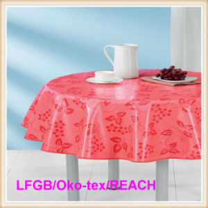 PEVA Printed Tablecloth/Table Cover Round Wholesale in Factory pictures & photos