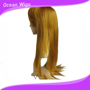Wholesale 26inch Long Light Color Synthetic Wig pictures & photos