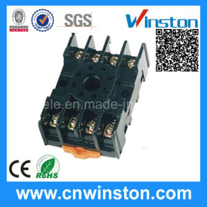 PF085A General Purpose 8 Pin Round Type Waterproof Non-Finger Protected Relay Socket with CE pictures & photos